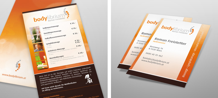 Leaflet and business card